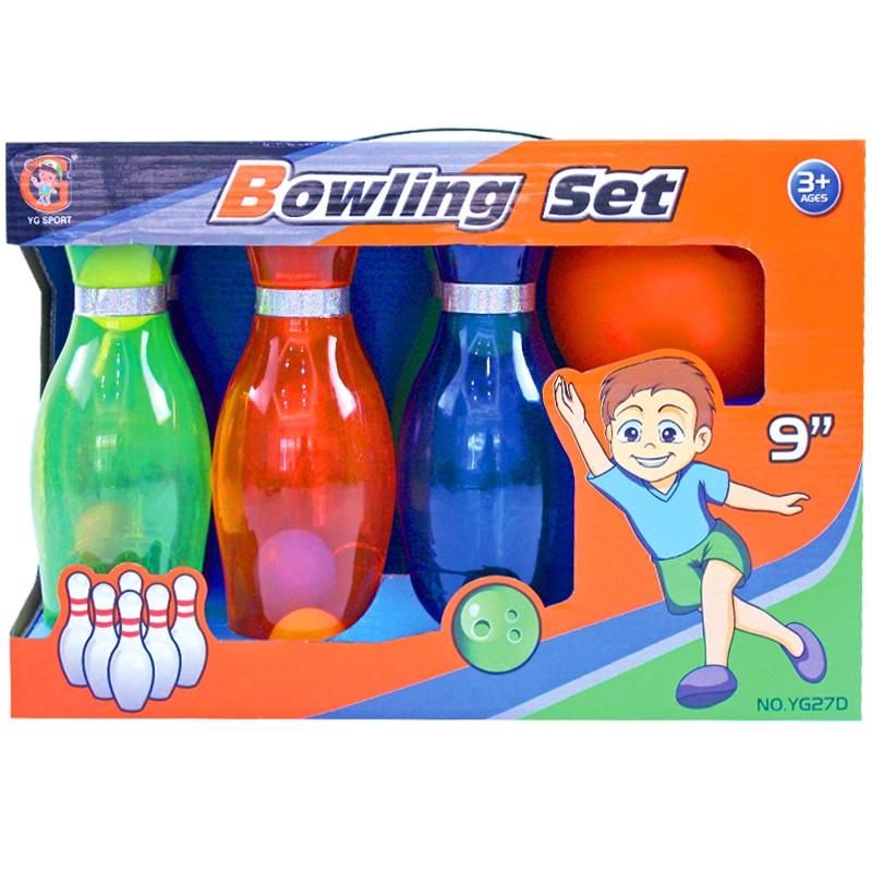 Conjunto de pinos de bowling