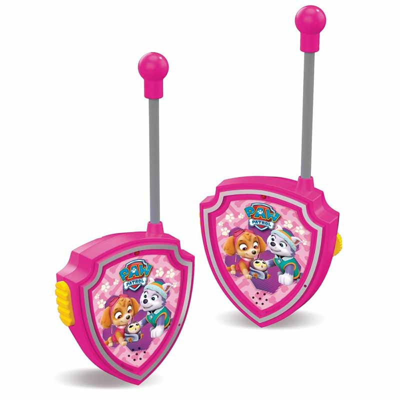 Patrulha Pata walkie talkie rosa