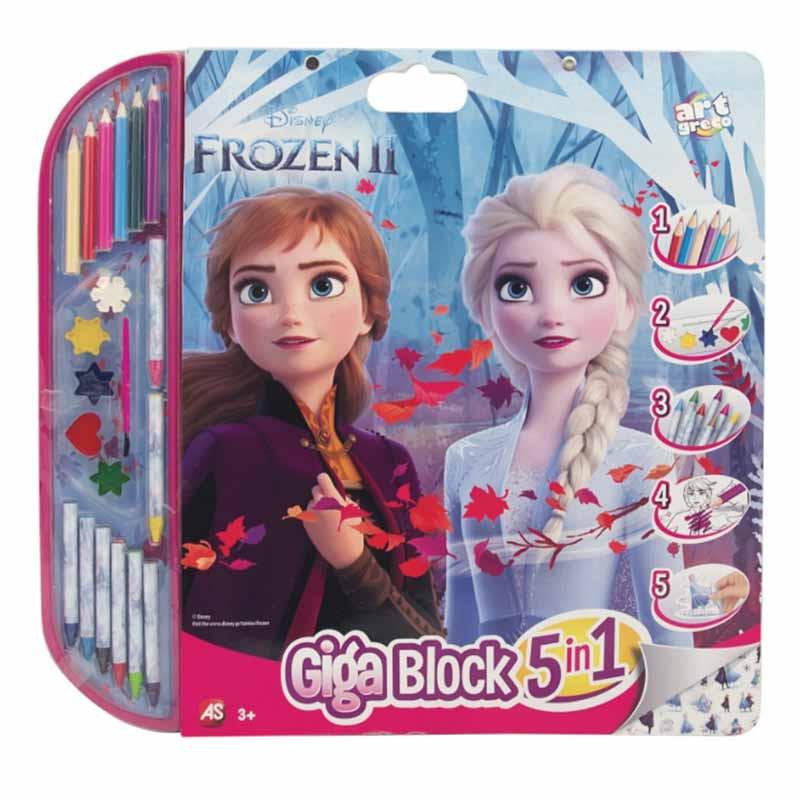 Frozen giga block para pintar e decorar