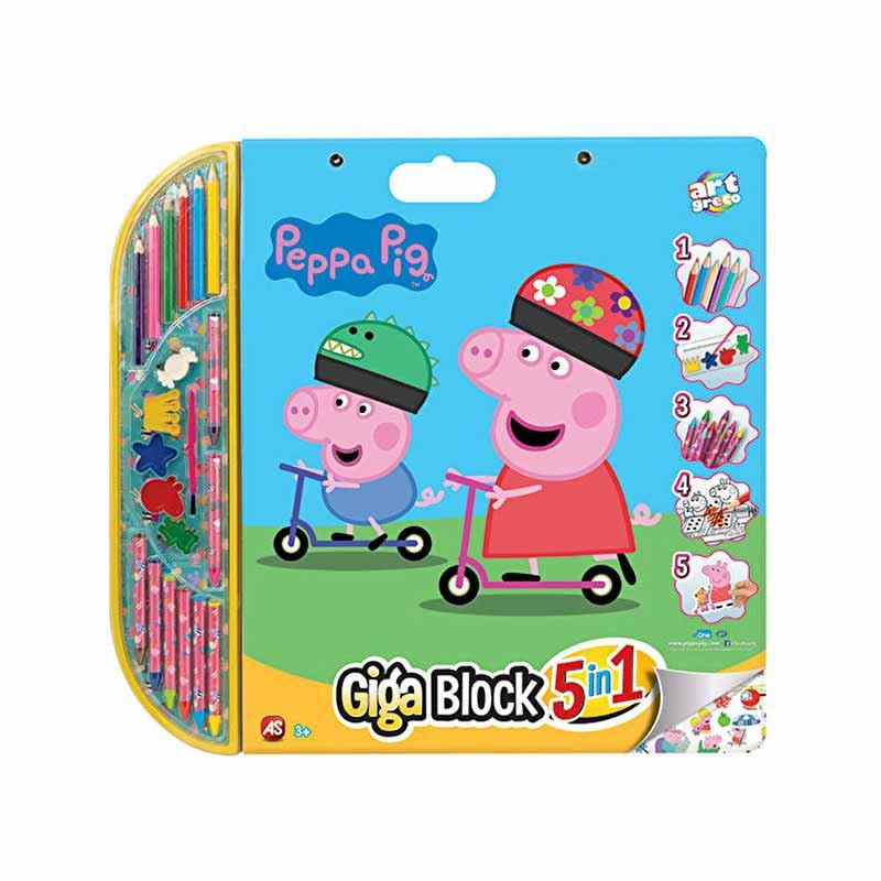 Peppa pig giga block 5 em 1