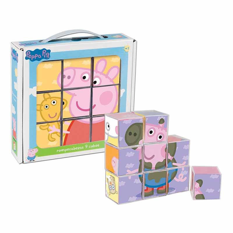Quebra cabeças Peppa Pig 9 cubos