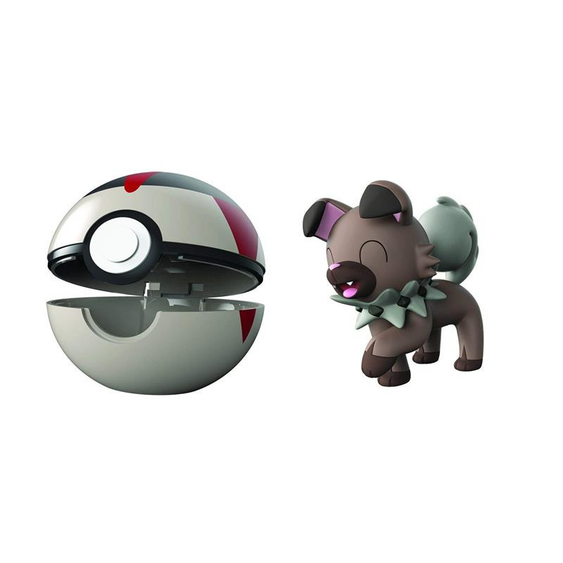 Pokemon Clip n goRockruff + turno ball