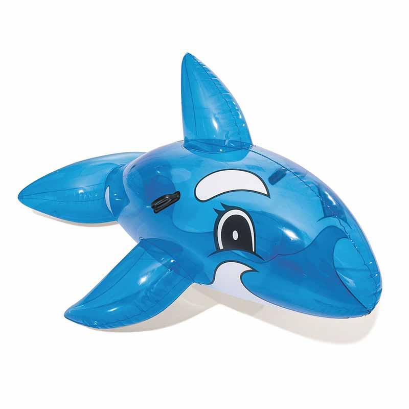 Baleia insuflável azul