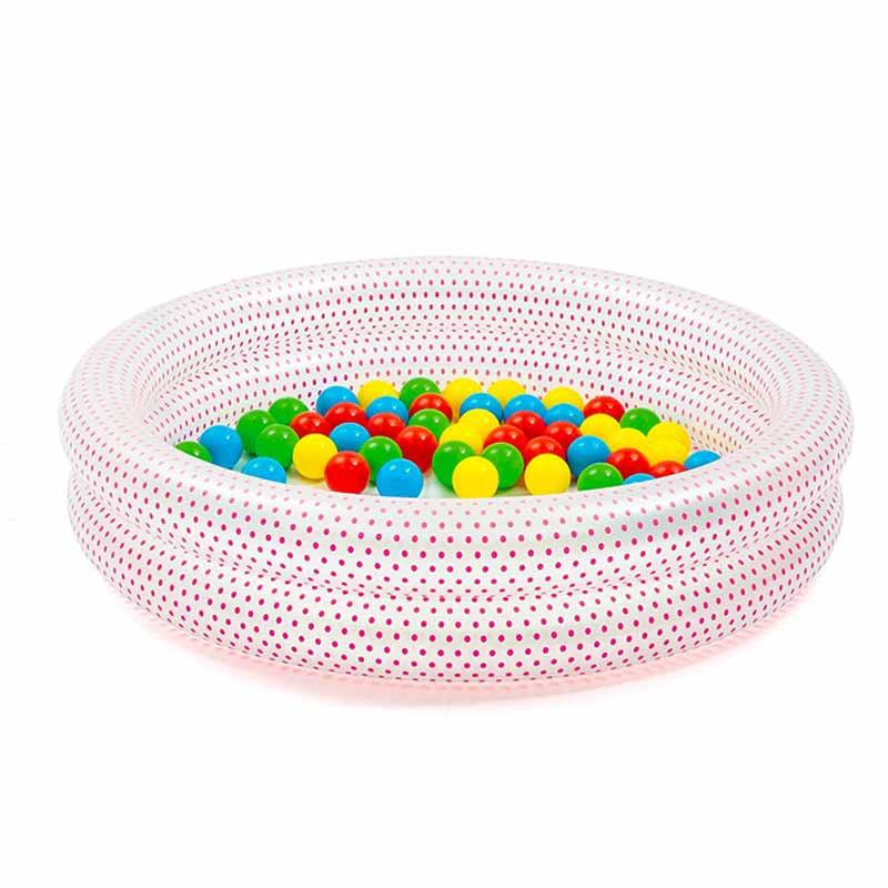 Piscina infantil com bolas de cores Φ91 x 20 cm