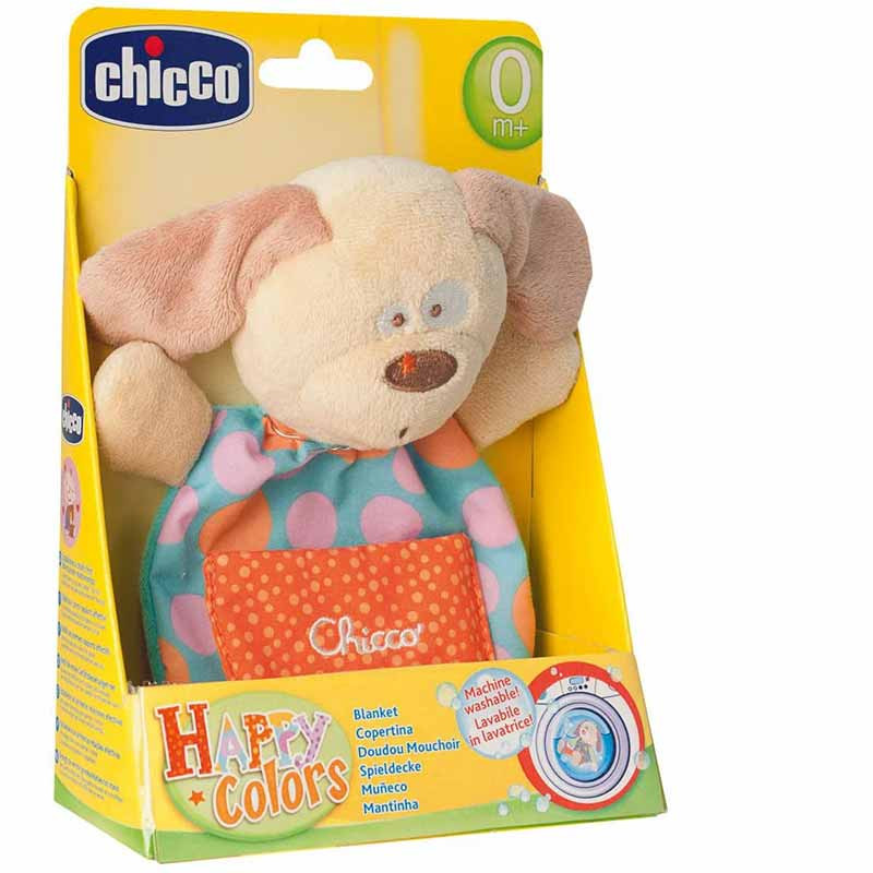 Chicco - Mantita Happy Colors Cãozinho