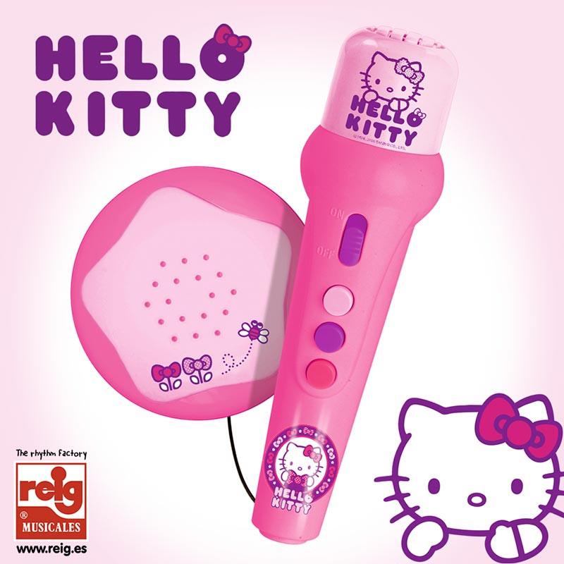 Microfone e amplificador Hello Kitty