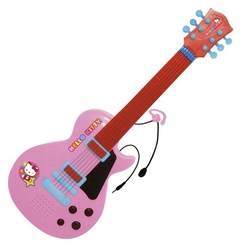 Conjunto de guitarra e microfone Hello Kitty