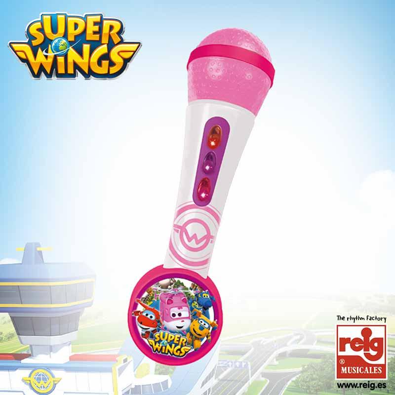 Microfone e amplificador Super Wings Rosa