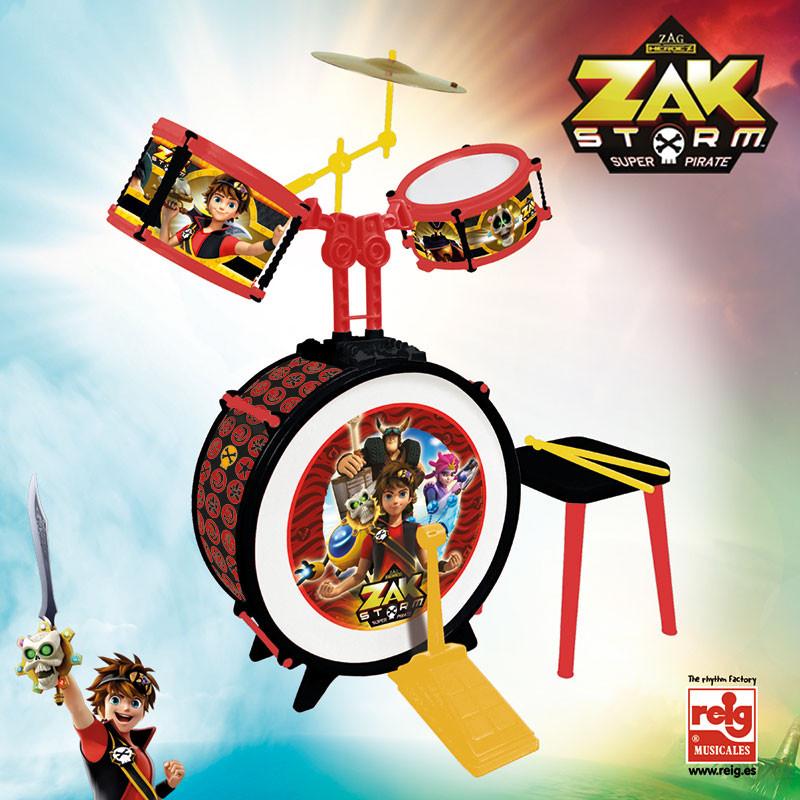 Batería 3 elementos com banco Zack Storm