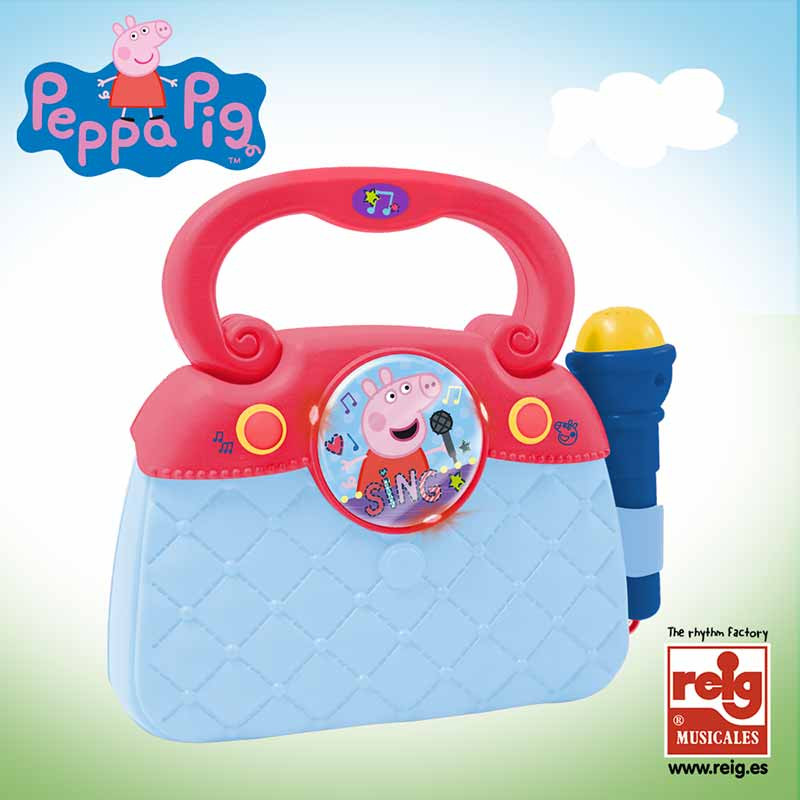 Saco de microfone , luzes, ritmos, MP3 Peppa Pig