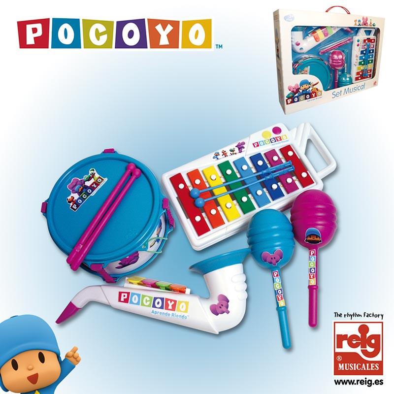 Saxofone, tambor, xilofone e maracas Pocoyo