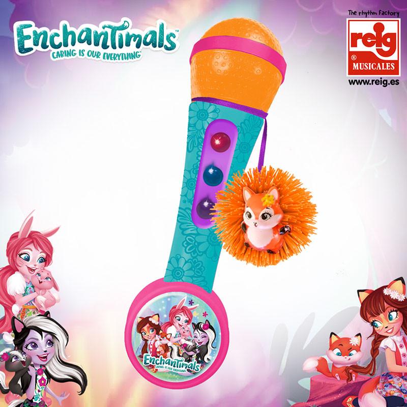 Micro de mão amplificador e ritmos Enchantimals