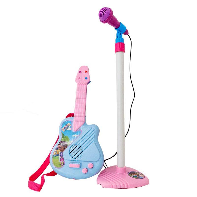 Conjunto de guitarra e micro Doutora Brinquedos