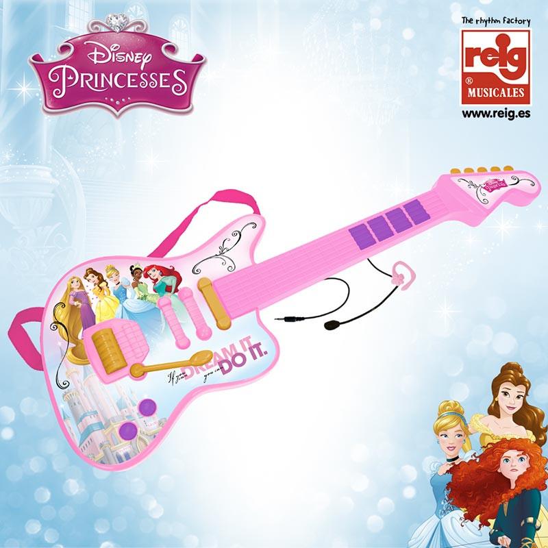 Guitarra eletronica e micro Princesas Disney