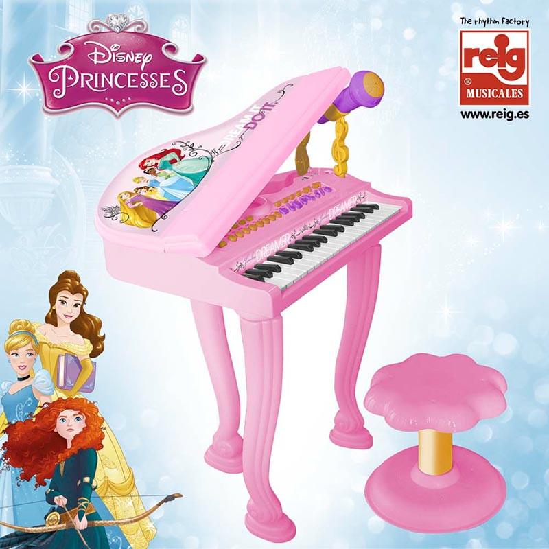 Piano de cauda com banquinho Princesas da Disney