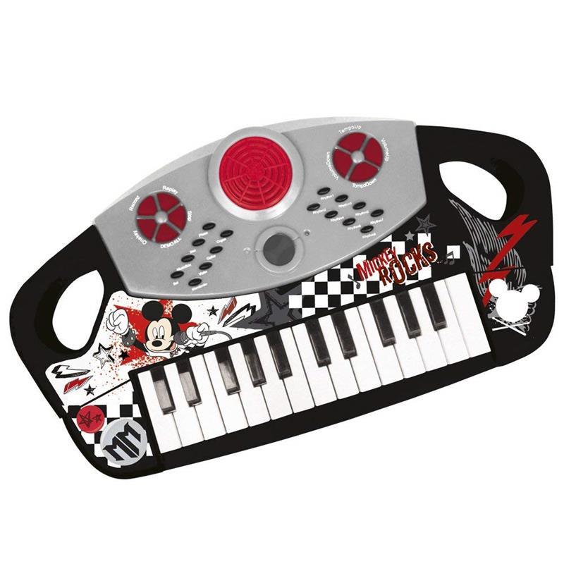 Piano eletrónico de Mickey Mouse com 25 teclas