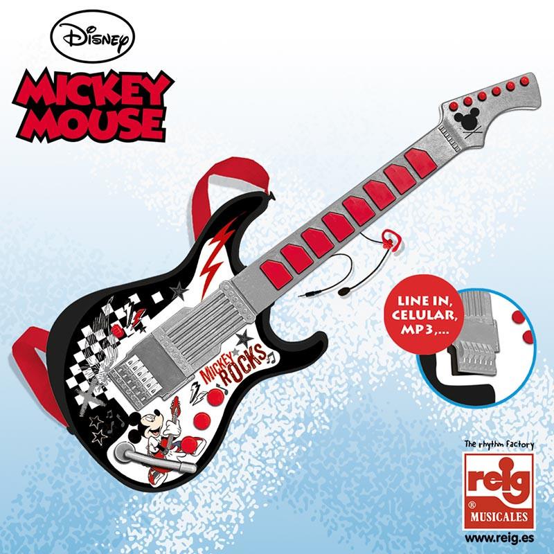 Guitarra com microfone Mickey