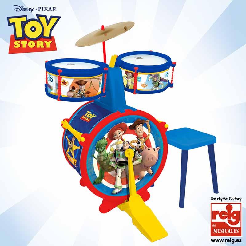 Bateria 3 elementos com banco Toy Story
