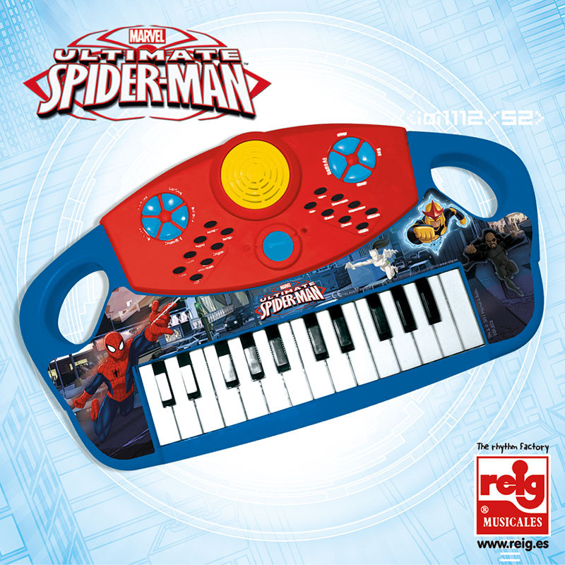 Órgão eletrónico Spiderman 25 teclas