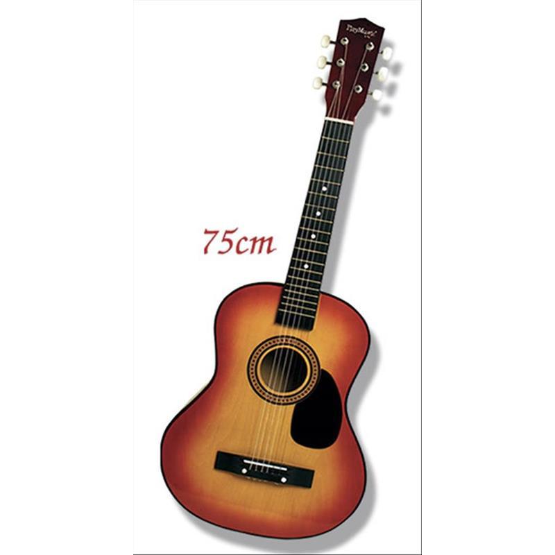 guitarra acústica de madeira