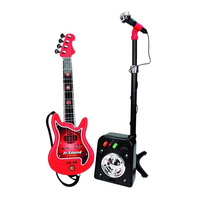 Conjunto de flash micro + bafle + guitarra