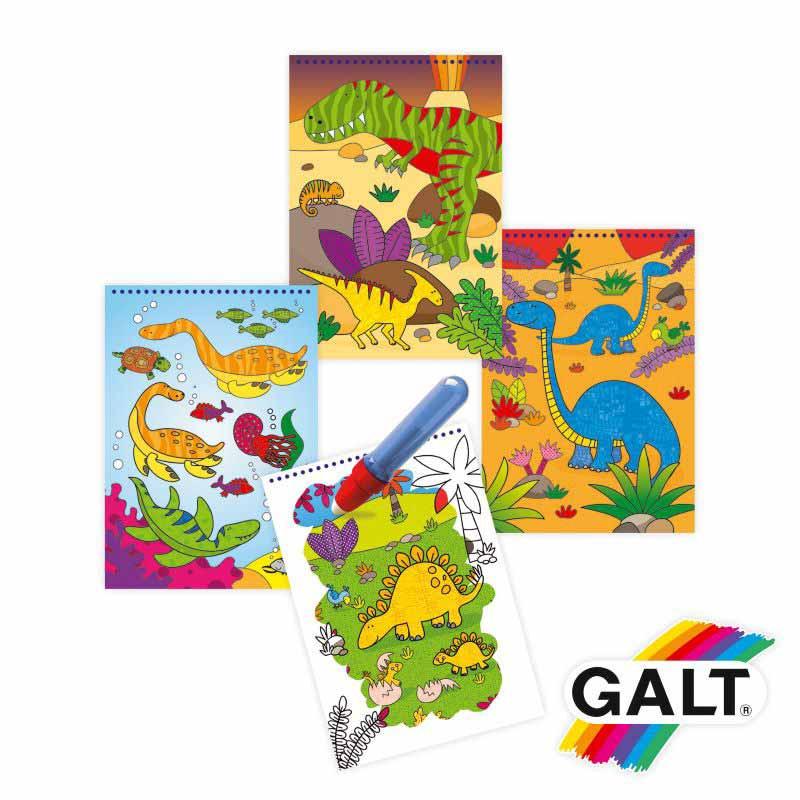 Livro para colorir com agua dinossauros