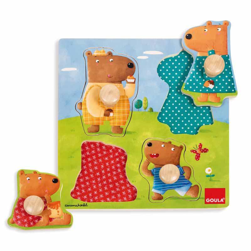 Puzzle pivôs grandes família de ursos