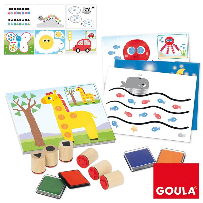 Jogo para estampar com selos Stamp Activities