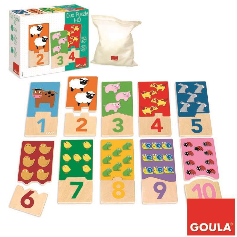 Puzzle Madeira Animais do 1 ao 10