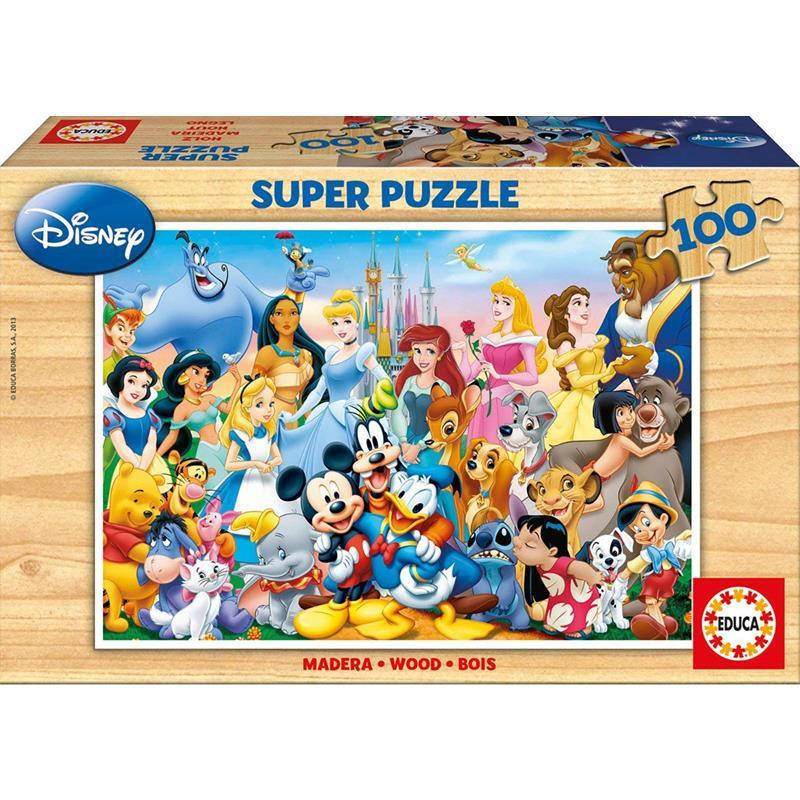 Educa puzzle madeira Maravilhoso Mundo Disney