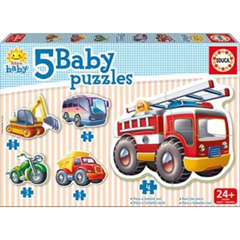 Educa 5 baby puzzle veículos