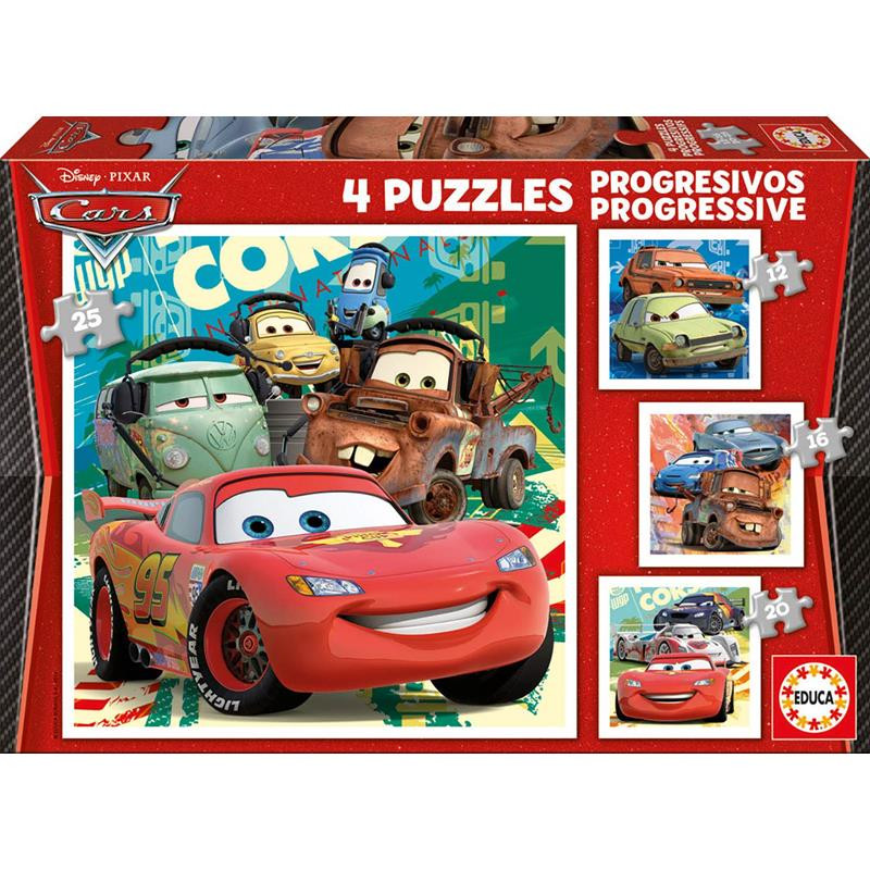 Educa puzzle progressivos Cars
