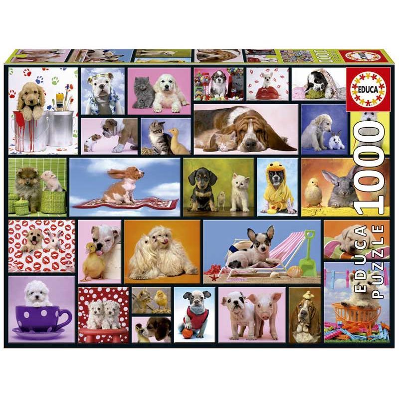 Educa puzzle 1000 cãezinhos e gatinhos