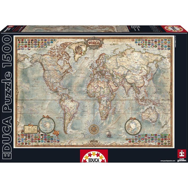 Educa puzzle O Mundo, Mapa político