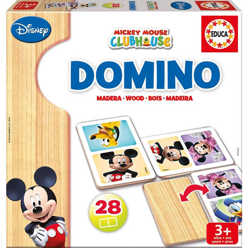 Educa domino madeira Mickey Minnie