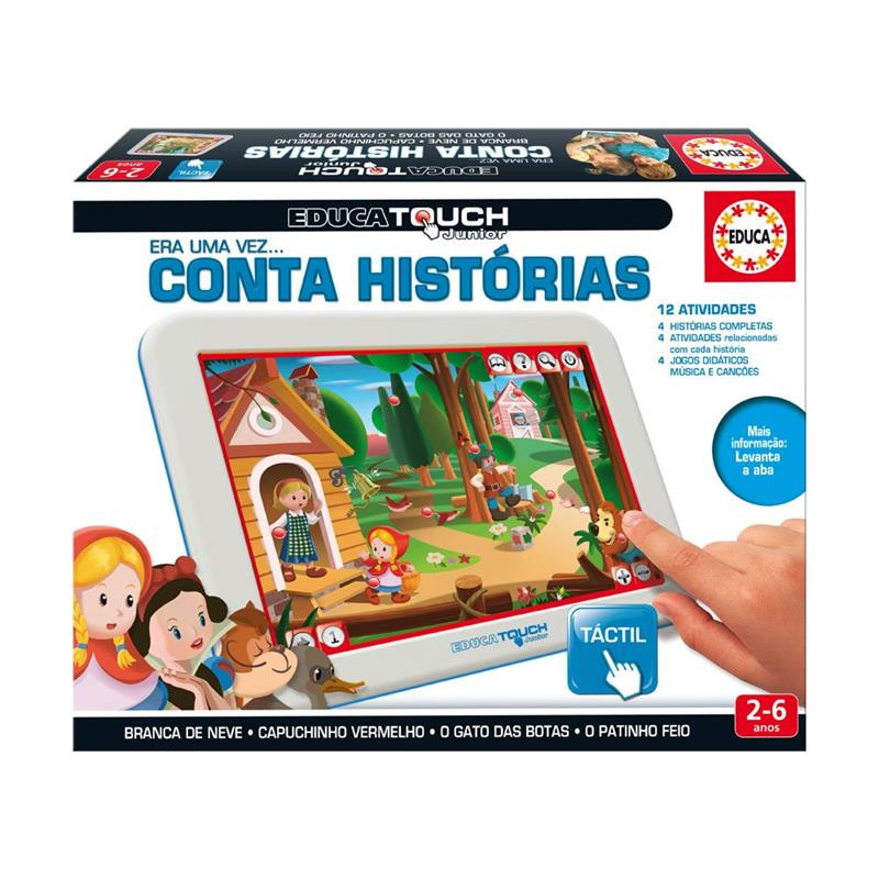 Educa touch júnior conta histórias