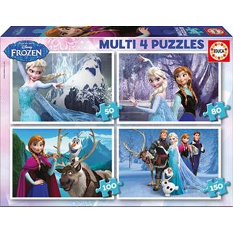 Educa 4 puzzles Frozen