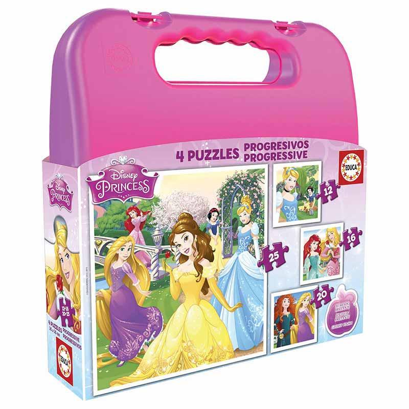 Educa puzzle mala progressivo princesas disney
