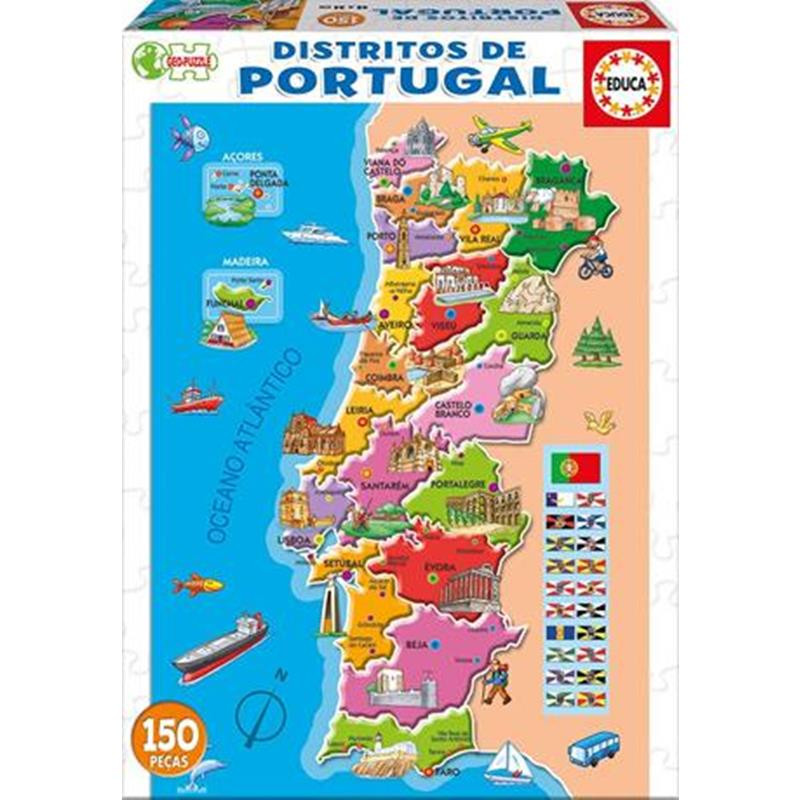 Educa puzzle 150 distritos de Portugal