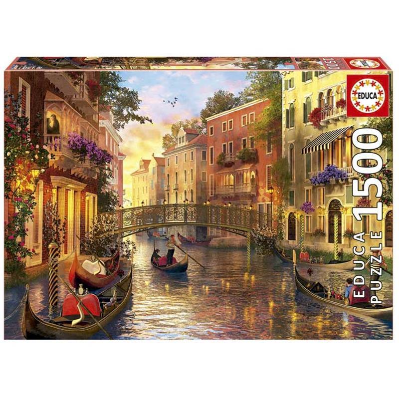 Educa puzzle entardecer em Veneza