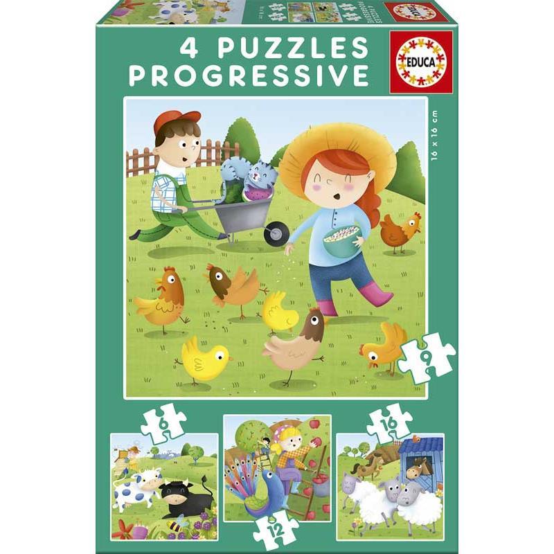 Educa puzzle progressivo animais da quinta