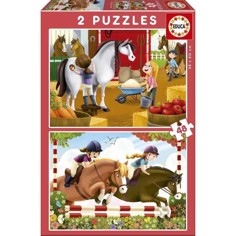 Educa puzzle cuidar dos cavalos