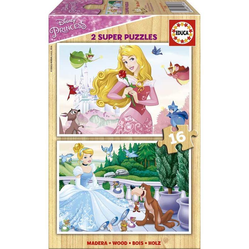 Educa puzzle madeira princesas Disney
