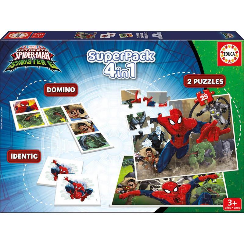 Educa puzzle superpack 4 em 1 spiderman