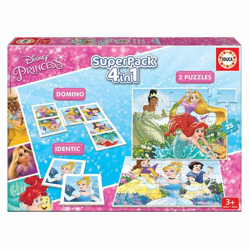 Educa Superpack 4 em 1 jogos Princesas Disney
