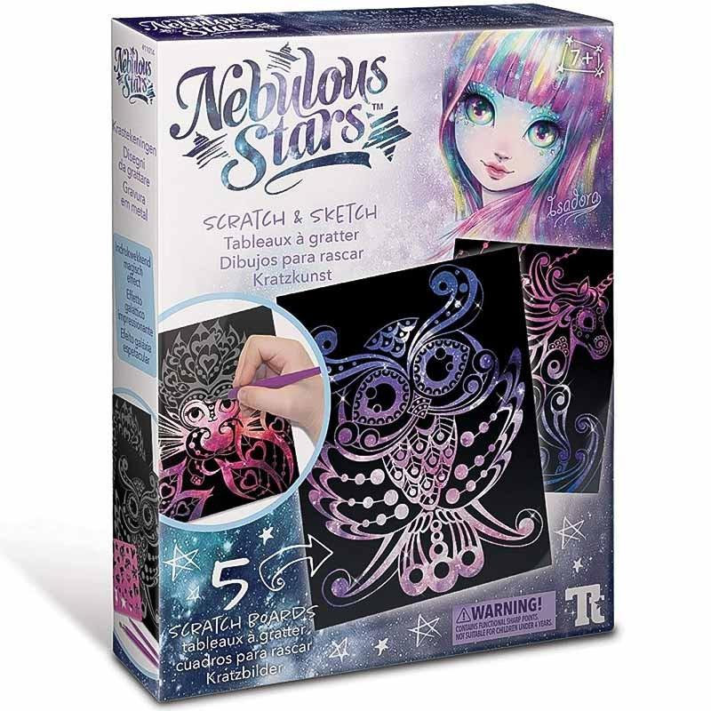 Educa Nebulous desenhos para raspar Nebulia