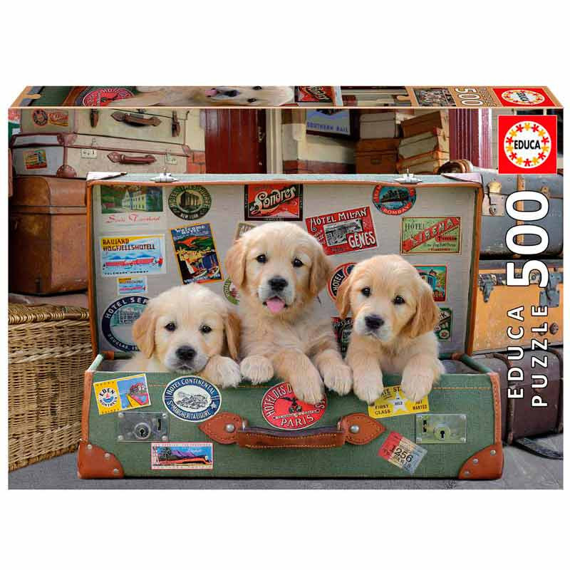 Educa puzzle 500 Cachorros na mala