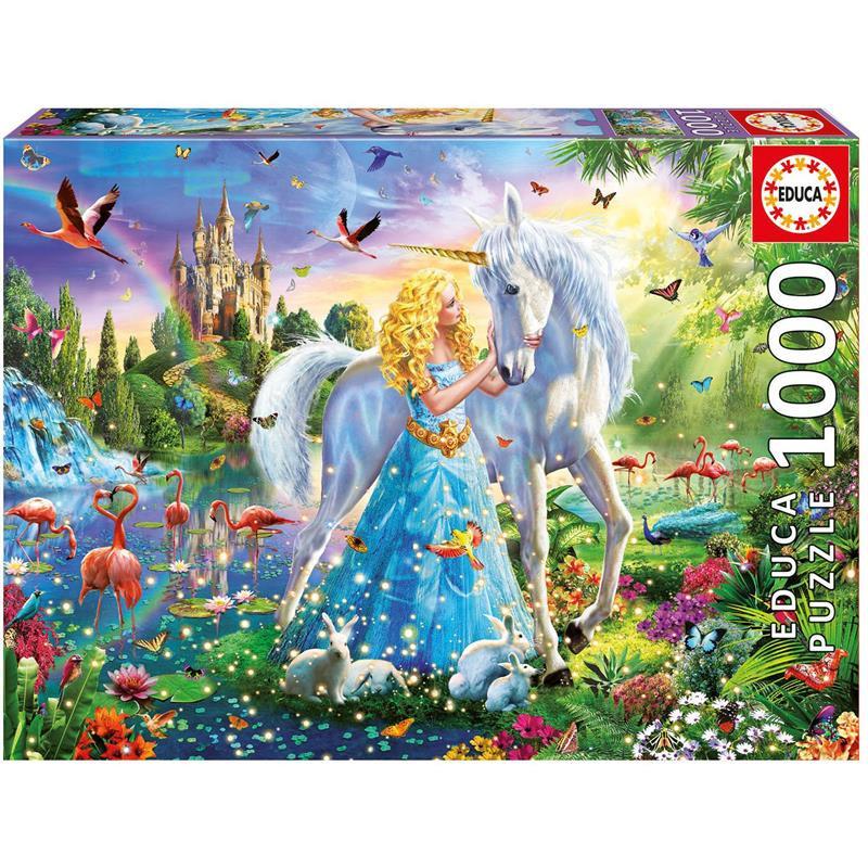 Educa puzzle 1000 A princesa e o unicórnio
