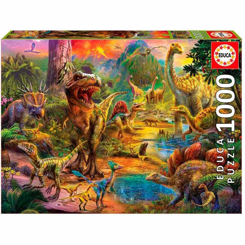 Educa puzzle 1000 Terra de dinossauros