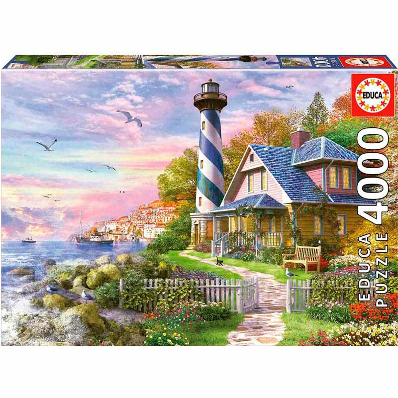 Educa puzzle 4000 Farol em Rock Bay